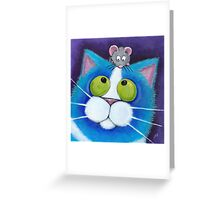 Blueberry and Wee Mousey Greeting Card
