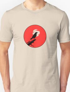 The Crow (red sky transparent moon) T-Shirt