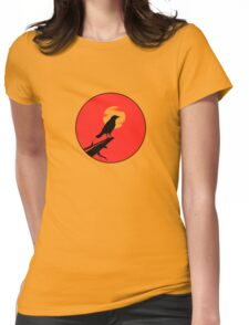 The Crow (red sky transparent moon) Womens Fitted T-Shirt