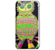 419 - BLING OWL - DAVE EDWARDS - COLOURED PENCILS - 2015 iPhone Case/Skin