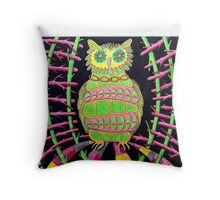 419 - BLING OWL - DAVE EDWARDS - COLOURED PENCILS - 2015 Throw Pillow