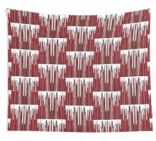 Vertical Bar Scratch Red Wall Tapestry