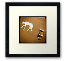 dog on a wall Framed Print