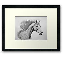 """""""Spirit of the Sands"""" - Arabian horse Framed Print"""