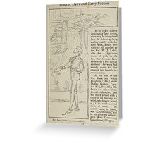 Kate Greenaway Collection 1905 0109 Christmas Card Pencil Sketch Greeting Card
