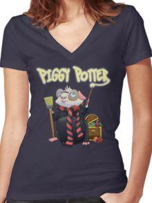Piggy Potter Women's Fitted V-Neck T-Shirt