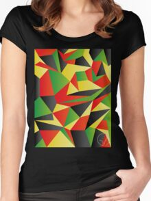 Polygon Crazy  Women's Fitted Scoop T-Shirt