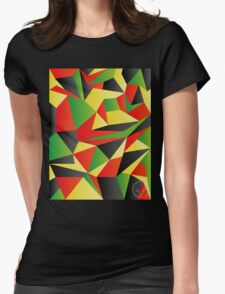 Polygon Crazy  Womens Fitted T-Shirt
