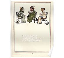 Under the Window Pictures and Rhymes for Children Edmund Evans and Kate Greenaway 1878 0023 Three Tabbies Poster