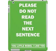 You little Rebel iPad Case/Skin