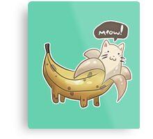 Banana Kitty  Metal Print