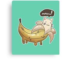 Banana Kitty  Canvas Print