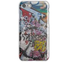 Grafitti on piece of Berlin Wall iPhone Case/Skin
