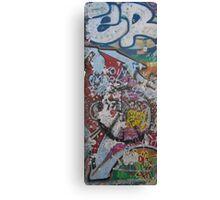 Grafitti on piece of Berlin Wall Canvas Print