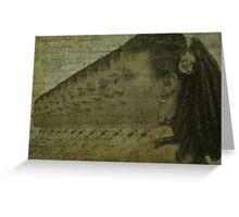 Tintype Girl Greeting Card