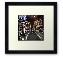 ALLEY CATS MURAL Framed Print
