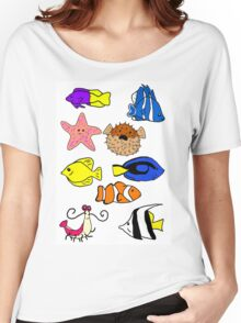 Fishes Women's Relaxed Fit T-Shirt