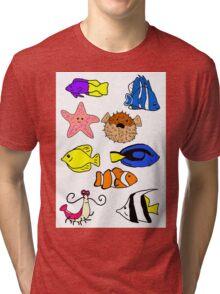 Fishes Tri-blend T-Shirt