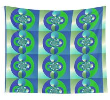 Green and Blue Wall Tapestry