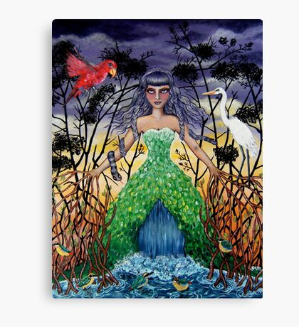 Tangled in the Mangroves Canvas Print