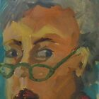 Self Portrait With Lady Bug Readers by Kay Hale