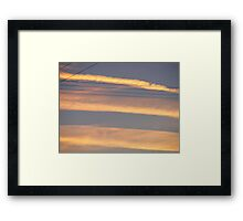 skylines. Framed Print