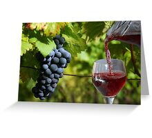 In the vineyard Greeting Card