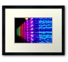 electronic rainbow Framed Print