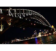 Sydney Harbour Bridge at night. Photographic Print
