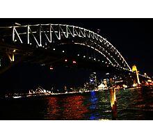Night - Sydney Harbour Bridge. Photographic Print