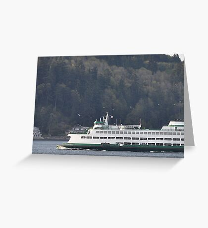 Puget Sound Crossing Greeting Card