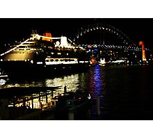 Circular Quay at night. Photographic Print