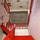 Red Stairs China by Philomena