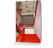 Red Stairs China Greeting Card
