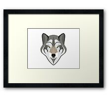Graphic grey wolf Framed Print