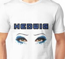 Darren Criss Hedwig Eyes Glitter Blue Flat Text 2 Unisex T-Shirt
