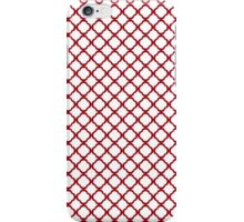 Cranberry Red And White Quatrefoil iPhone Case/Skin
