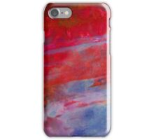 Sunset,  Fire Opal, Non Objective colourful art iPhone Case/Skin