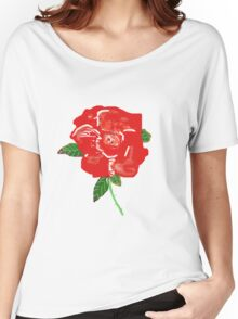 RED ROSE  T SHIRT Women's Relaxed Fit T-Shirt