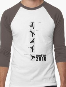 South Africa World Cup 2010 Flash Kick Tee (with text) Tee Men's Baseball ¾ T-Shirt