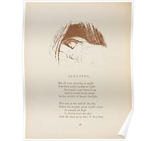 Rhymes for the Young Folk William and Hellen Allingham art Kate Greenaway 0054 Sleeping Poster