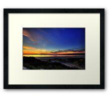 sand dune sunset Framed Print