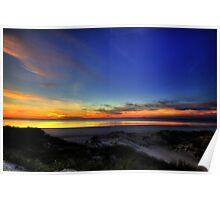 sand dune sunset Poster