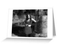 Beauty in Ancient stones 5  Black & white Greeting Card