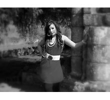 Beauty in Ancient stones 5  Black & white Photographic Print