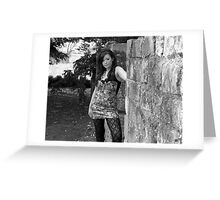 Beauty in Ancient stones 6  Black & white Greeting Card