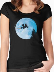 Taking Her to the Moon Women's Fitted Scoop T-Shirt