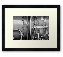 Closeup: Jet Engine Framed Print
