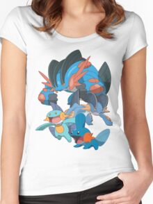 mudkip's family Women's Fitted Scoop T-Shirt