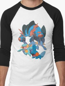 mudkip's family Men's Baseball ¾ T-Shirt